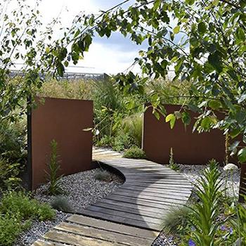 corten steel garden walls