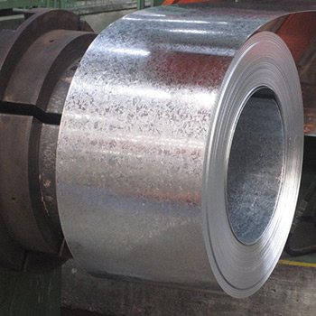 roll of bright spangled galvanised sheet metal
