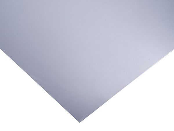 flat sheet of aluminium