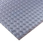 Steel Checker Plate - 3.0mm / 10 SWG (0.120``) - 100mm x 100mm - approx 4