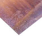Corten Steel Sheet - 2.5mm / 14 SWG (0.098``) - 400mm x 200mm - approx 16