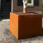 Andes Corten Steel Cube Planter - 1400 x 1400 x 800