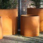Atlas Corten Steel Round Planter - 1200 x 800