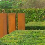 Corten steel pedestals - 500 x 500 x 1200