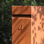 Corten Steel Mailboxes - Untreated corten - 300 x 300 x 1200