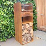 Skipp Steel Garden BBQ Style Fire - 410 x 460 x 1000 - Untreated