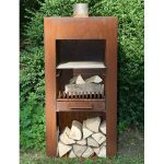 Stig Steel Garden Fire Unit - Untreated - 500 x 500 x 1000