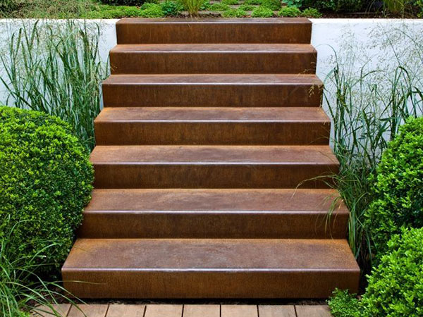 Corten Steel Weathered Stairs Stylish Outdoor Steps From 455 40