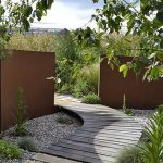 Corten steel feature walls - 6000 x 150 x 2000 - untreated