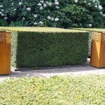 Corten Steel Fire column lights - 400 x 400 x 1000 - corten