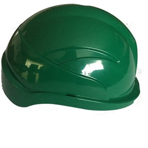 green safety hard hat
