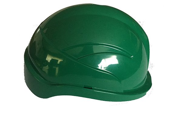 green safety hard hat