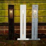 Corten Steel Standing Lights - Untreated Corten - 100 x 100 x 600 - Standing Light 1