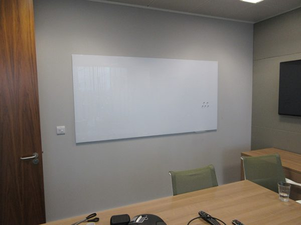 magnetic white board in conference room