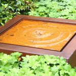 Corten Steel Square Water Table - 800 x 800 x 400
