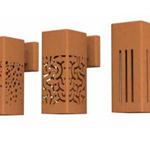corten steel wall light shades
