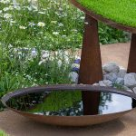 Corten steel waterbowl - 600 x 140