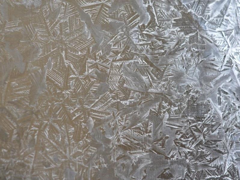 big bright spangled galvanised sheet metal