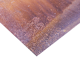 weathered sheet of corten steel