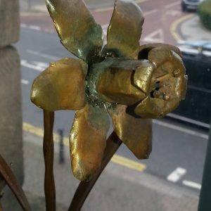 Daffodil made with steel