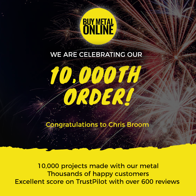Buy Metal Online celebrates its 10,000th order