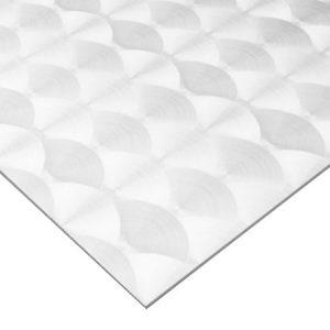 circle polished stainless steel sheet