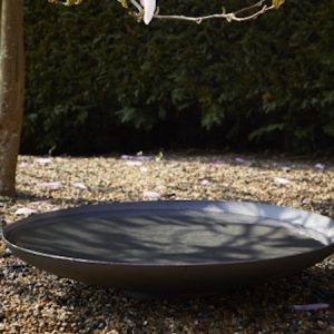 powder coated steel water bowl, 60cm diameter, garden water feature