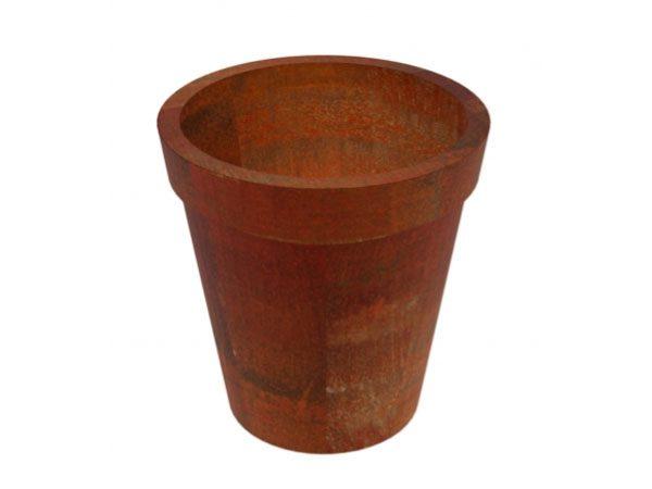 corten steel flower pot shaped garden planter