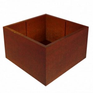corten steel square garden planter