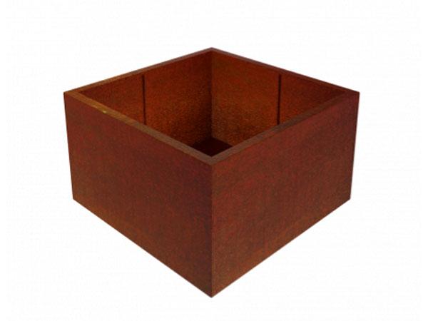 corten steel square garden planter