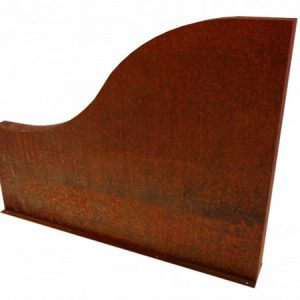corten steel wall, garden feature