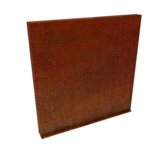 corten steel garden wall feature