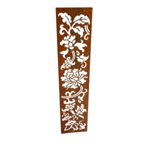 decorative corten steel garden screen
