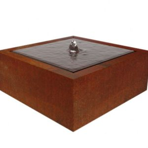 corten steel square water table
