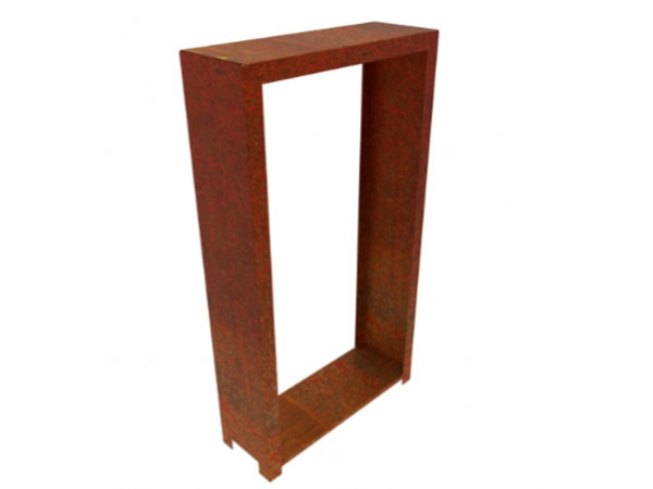 jardi low wood storage, corten steel outdoor wood storage