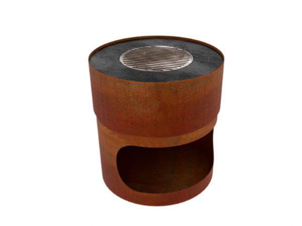 corten steel circular garden burner
