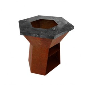 corten steel hexagonal burner