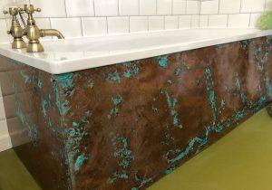 Aged Copper Bathtub Panels