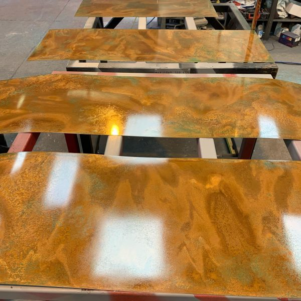 Copper Patina Sheet Aged Copper Sheets Free Cutting Service Bmo