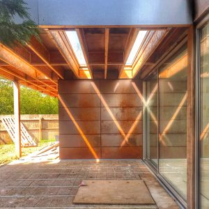 corten steel sheet house cladding