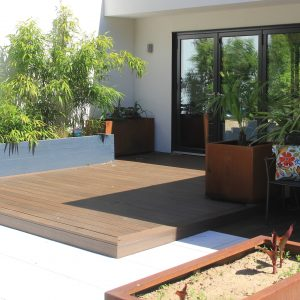 square and rectangular corten steel garden planters