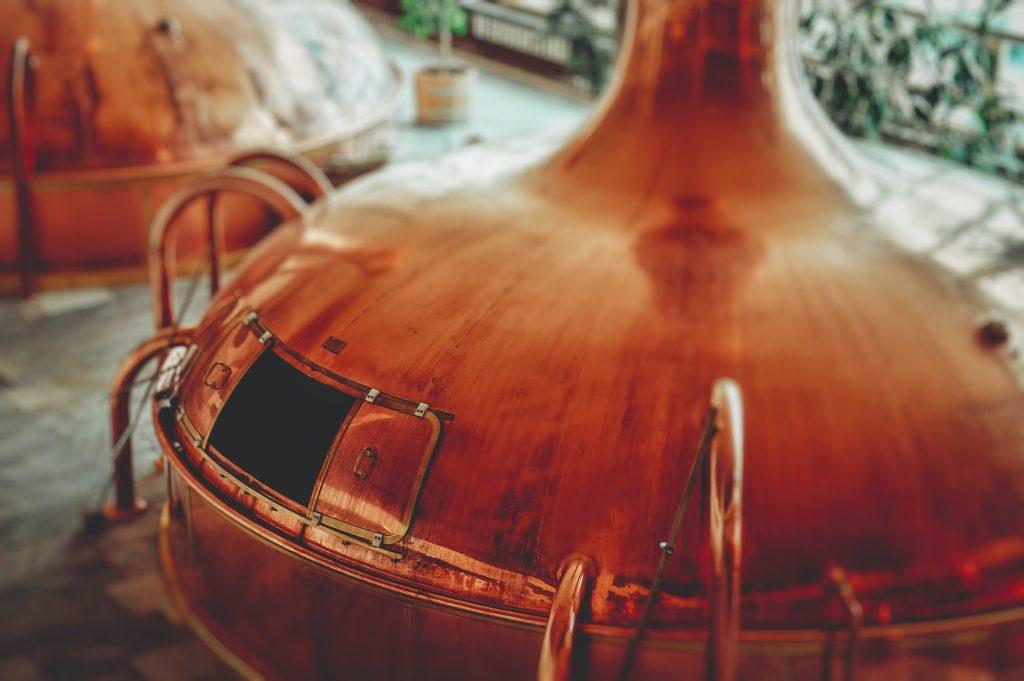 Copper alcohol distillery