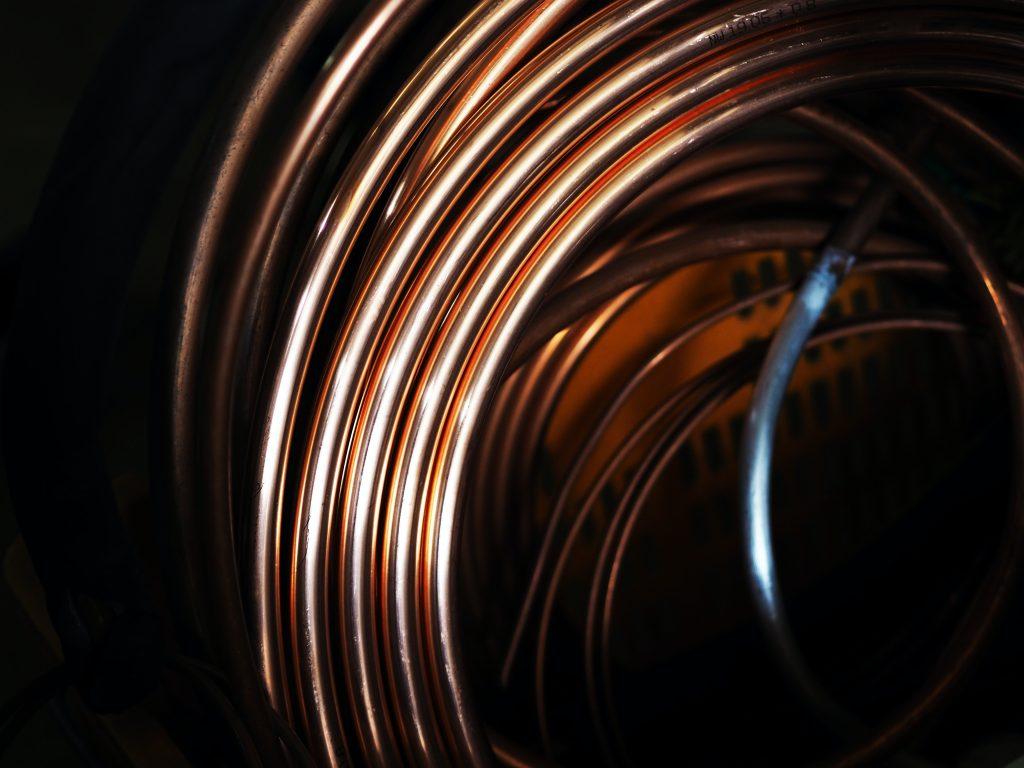Coil of copper wire